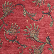 Melon Fern jacquard fabric