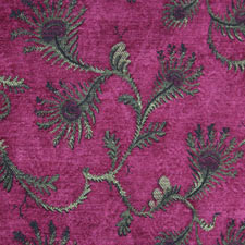 Raspberry Fern jacquard fabric