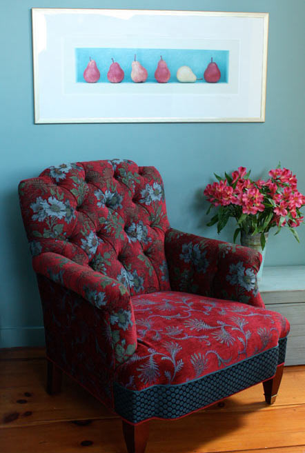 Redwine - handcrafted upholstered Chelsea chair