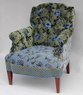 Artistic Upholstered Chairs, Jacquard Woven Fabrics
