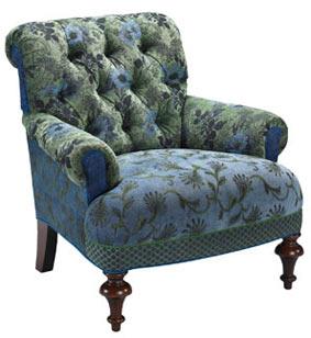 Larkspur - jacquard fabric Middlebury chair