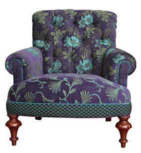 Plum - handcrafted upholstered Middlebury chair