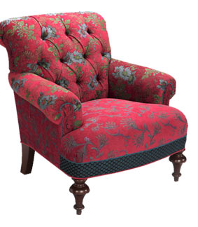Red Wine - handcrafted upholstered Middlebury chair