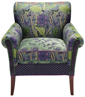 Aquamarine - handcrafted upholstered Salon chair