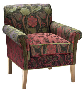 Forest - handcrafted upholstered Salon chair