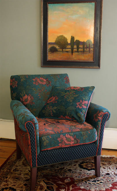 Zinnia - handcrafted upholstered Salon chair