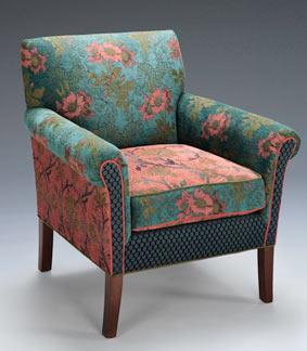 Artistic Upholstered Chairs Jacquard Woven Fabrics Mary Lynn O