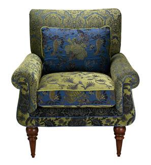Cornflower - handcrafted jacquard Shelburne chair