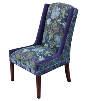 Blue Lavender - handcrafted upholstered Windham chair