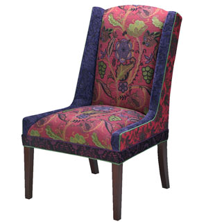 Bordeaux - handcrafted upholstered Windham chair