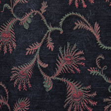 Fern Cornflower jacquard fabric