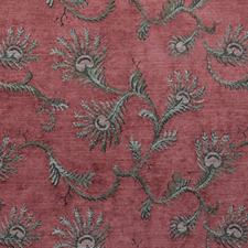Terracotta Fern jacquard fabric