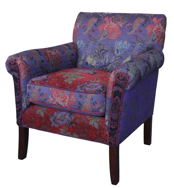 Plum - handcrafted upholstered Salon chair